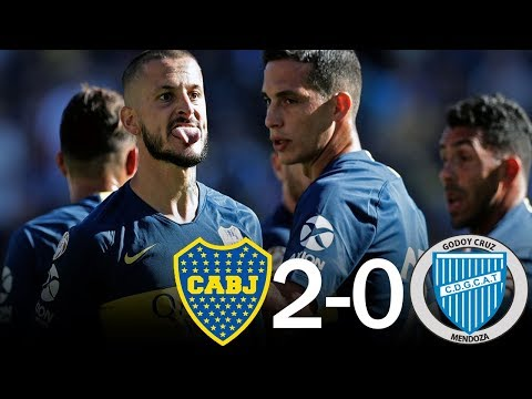 Boca Juniors 2 - 0 Godoy Cruz - Resumen Completo - Superliga