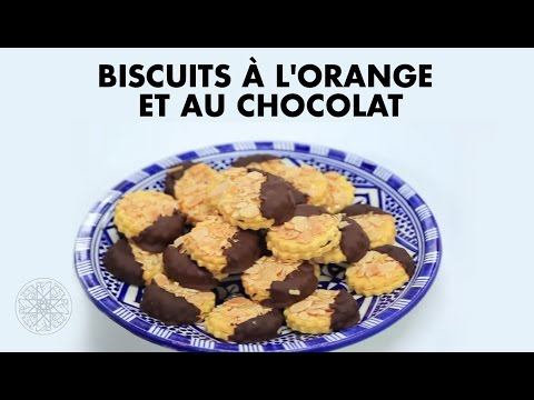 Choumicha : Biscuits à l'orange et au chocolat