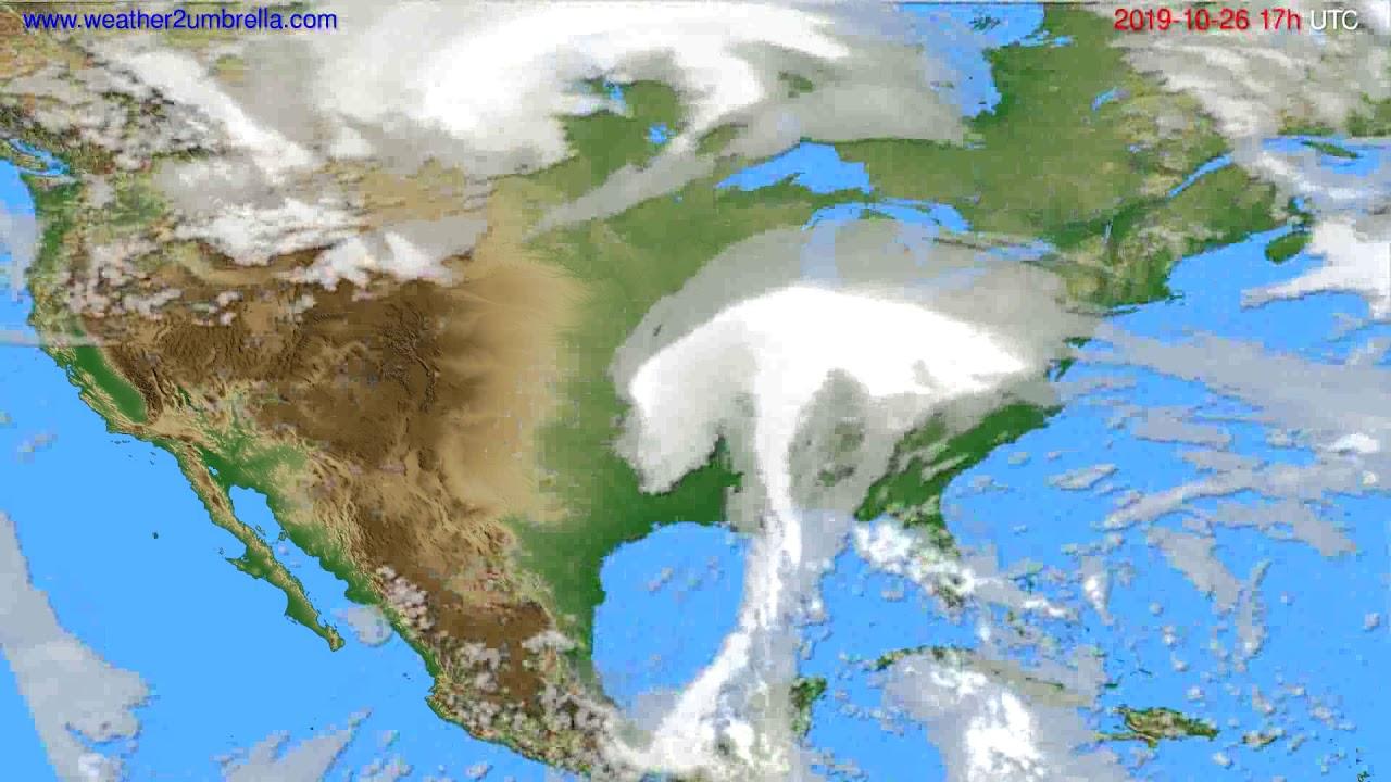 Cloud forecast USA & Canada // modelrun: 00h UTC 2019-10-25