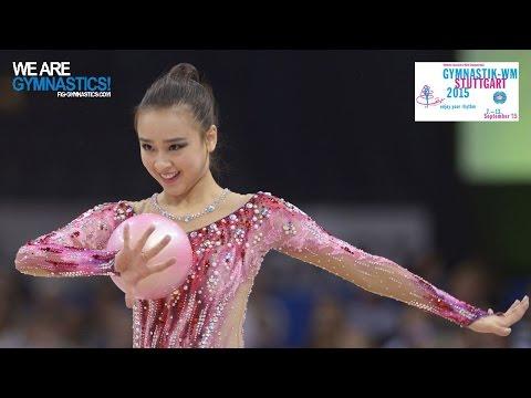 SON Yeon Jae (KOR) 2015 Rhythmic Worlds Stuttgart - Qualifications Ball (видео)