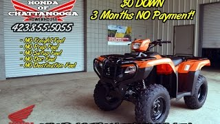 4. 2016 Honda Foreman ES 500 ATV Review of Specs / TRX500FE1 - Chattanooga TN PowerSports Dealership