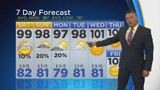 The heat advisory continues until Saturday night.