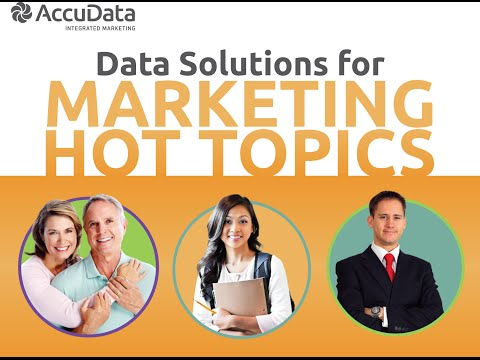 Data Solutions for Marketing Hot Topics
