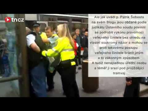 Městská policie zásah na Andělu
