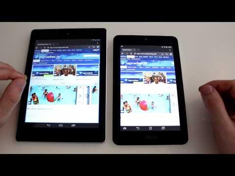 Asus MeMO Pad HD 7 und Acer Iconia A1 im Vergleich