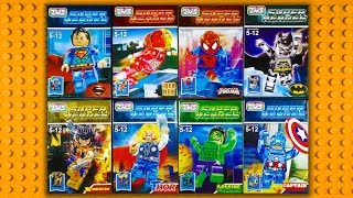 LEGO Marvel DC Transparent Minifigures (knock-off) ZMS 202
