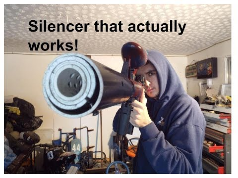 how to make a paintball silencer that actually works!