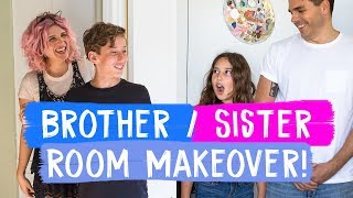 Video Surprise Brother and Sister Room Makeovers! | Mr. Kate Decorates MP3, 3GP, MP4, WEBM, AVI, FLV Agustus 2019