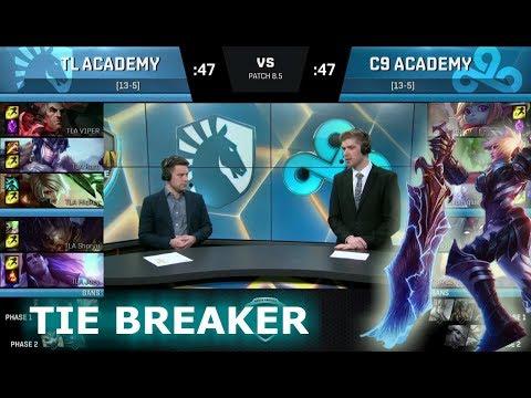Team Liquid Academy vs Cloud 9 Academy | Tie Breaker NA Academy League Spring 2018 | TLA vs C9A