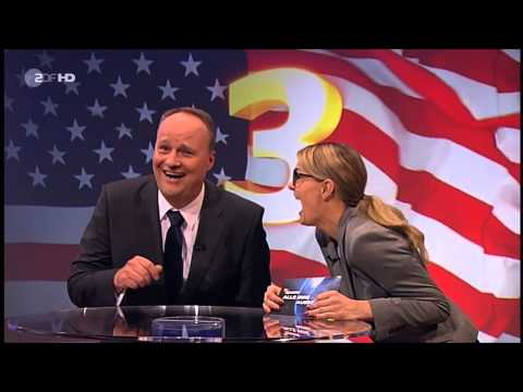 German comedy show laughs at America going bankcrupt about Obamacare fight.