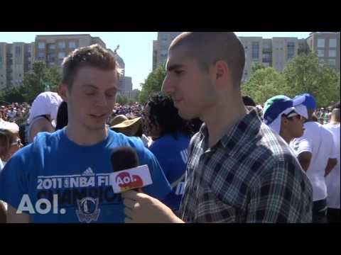 Talking Strikeforce MMA at the Dallas Mavericks Victory Parade