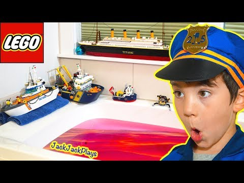 Do Lego Boats Float in Lava? Pretend Play Floor is Lava Skits for Kids