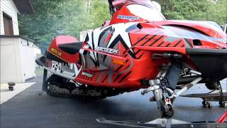 9. Arctic Cat Firecat review new Arcticfx graphics! And start up!