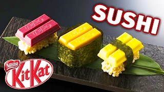 Sushi Kit Kats are here...and they're weird.► READ more info about Kit Kat sushi: https://goo.gl/CEJ6EY► JOIN the Fuzzy Wuzzy Fun Club (Patreon): https://goo.gl/0VJYZ7