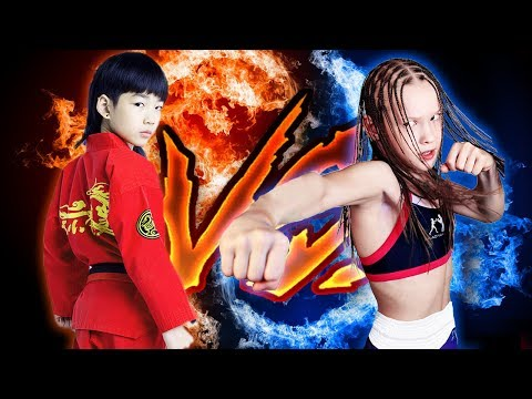 Evnika Saadvakass (Дверь и Эвника) VS Lin Qiunan (林秋楠) - Boxing vs Kungfu