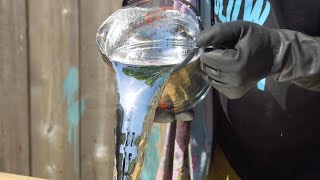 Pouring a Liquid Mirror in Slow Motion - The Slow Mo Guys 4K