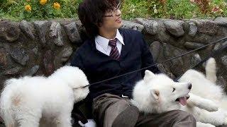 犬に異常なばかりに好かれている松岡広大/映画『兄友』メイキング