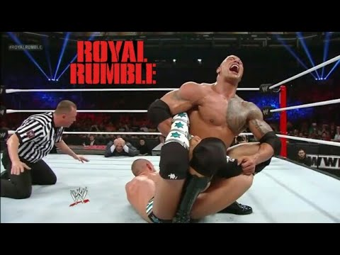 The Rock Vs Cm Punk WWE Championship Full Match - WWE Royal Rumble 2018 (HD)