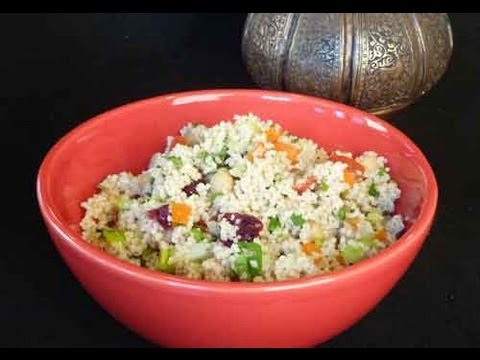 Couscous Salad – Healthy Lunch Recipe Video