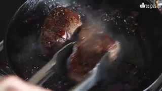 Stek z polędwicy wołowej z szalotką