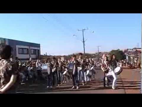 Apresentação da Fanfarra no Desfile de 7 de Setembro em Nova Prata do Iguaçu