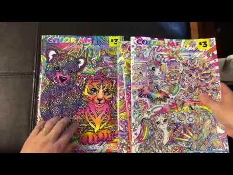 Lisa Frank Adult Coloring Book Color Me Flip Through Review