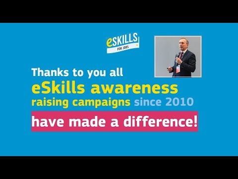 Watch a video called 'eSkills for Jobs | Six years of eSkills awareness raising campaigns'