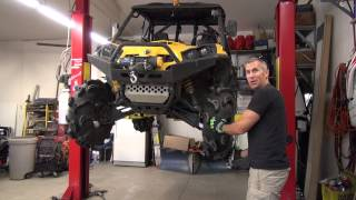 10. Can Am Commander Wheel spacer install!  PowerModz!