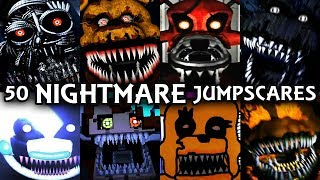 First of all, something to clarify: Some people thought I copy IULTIM's 50 Jumpscares idea, I want to clarify the first 50 Jumpscares video was actually done by ME! In fact, he copied my idea and keep uploading this kind of video more and faster than me, so people thought I'm the one who stole his idea because he is a bigger youtuber!? Again, I DID NOT copy his idea! Somehow he's the one who copy my idea, thanks for understanding.Nightmare styles Animatronic Jumpscares! But what is Nightmare type? IMO sharp teeth + decayed suit + devilish eyes = Nightmare XD50 Chica Jumpscares ► https://www.youtube.com/watch?v=mPV33egfPsc50 Foxy Jumpscares ► https://www.youtube.com/watch?v=RaH_WTLvG5050 Bonnie Jumpscares ► https://www.youtube.com/watch?v=VTnoNFBpklg50 Freddy Jumpscares ► https://www.youtube.com/watch?v=vuM4e19qc7YSubscribe for More ► http://bit.ly/DarkTaurusFacebook ► https://www.facebook.com/DarkTaurusYTTwitter ► https://twitter.com/darktaurusyt