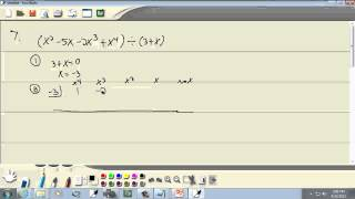 College Algebra: Dividing Polynomials; Remainder and Factor Theorem