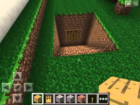 Как построить секретную комнату в игре Minecraft Pocket Edition