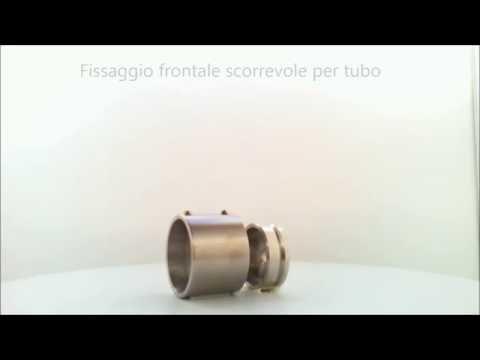 Fissaggio frontale scorrevole in acciaio inox per tubo tondo - 62614