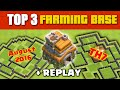 Clash Of Clans - TOP 3 TH7 FARMING BASE 'August 2016' + REPLAY ♦ Great Bases For Saving Resources