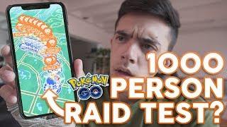 1000 PERSON RAID TEST AT POKÉMON GO FEST?? by Trainer Tips
