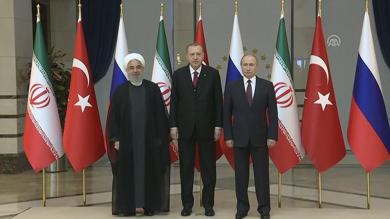 Συνάντηση B. Πούτιν με Τ.Ερντογάν και Χ.Ροχανί στην Άγκυρα για το συριακό