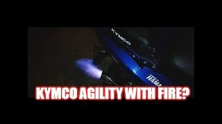 8. Kymco Agility 50 shooting some flames... Straight pipe/ exhaust .