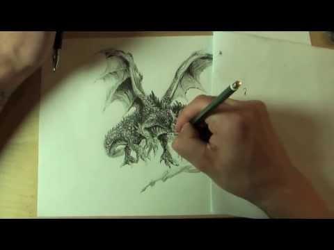 WIE ZEICHNET MAN EINEN DRACHEN !!! HOW TO DRAW A DRAGON !!! ONLINE ZEICHENKURS
