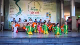 Múa quạt - Đội Thiếu Nhi nhà văn hóa huyện Đức Hòa