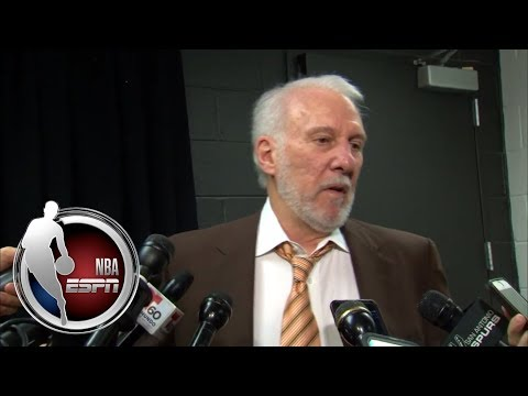 Video: Gregg Popovich gets fiery with media after ejection and Spurs loss to Warriors | NBA on ESPN
