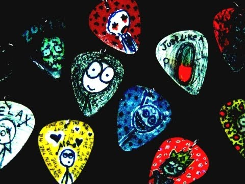 ► How To Make Custom Guitar Pick Necklaces & Earrings - Craft Tutorial 19 (Injury Inspired)
