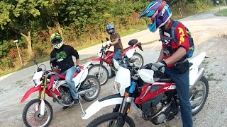 10. Honda CRF250L Ride with HUSQVARNA TE250 & CRF230L MotoVlog