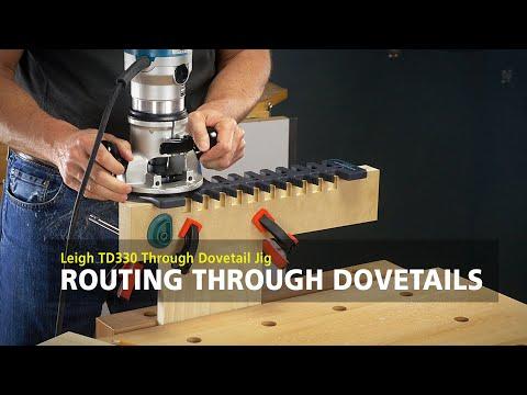 Leigh TD330 Through Dovetail Jig - Routing Through Dovetails