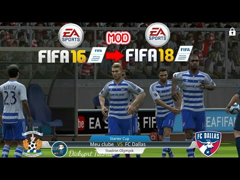 FIFA 16 MOD FIFA 18 ULTIMATE TEAM GRAFIK Super Mantap || Tutorial 2018
