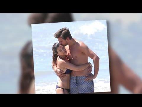 Bikini-Clad Kourtney Kardashian Cuddles Up To Scott Disick in Mexico - Splash News