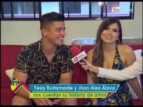 Yesly Bustamante y Jhon Alex Álava nos cuentan su historia de amor