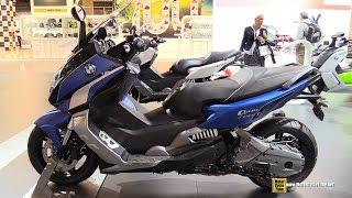 10. 2015 BMW C600 Sport Scooter - Walkaround - 2014 EICMA Milan Motorcycle Exhibition