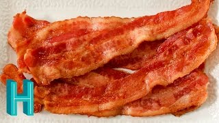 Check out Hilah's Happy Hour - my new weekly podcast! http://vid.io/xca1 How to cook bacon in the oven! It's neat, tidy, and you...