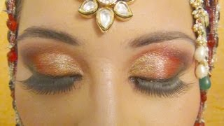 Muslim Bridal Makeup - Red Arabic Smokey Eyes ( Complete Bridal Makeup )