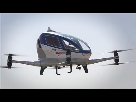 Flying Drone Taxis Taking Off Soon in Dubai