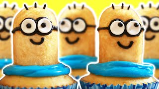 DESPICABLE ME MINION CUPCAKES - NERDY NUMMIES - YouTube
